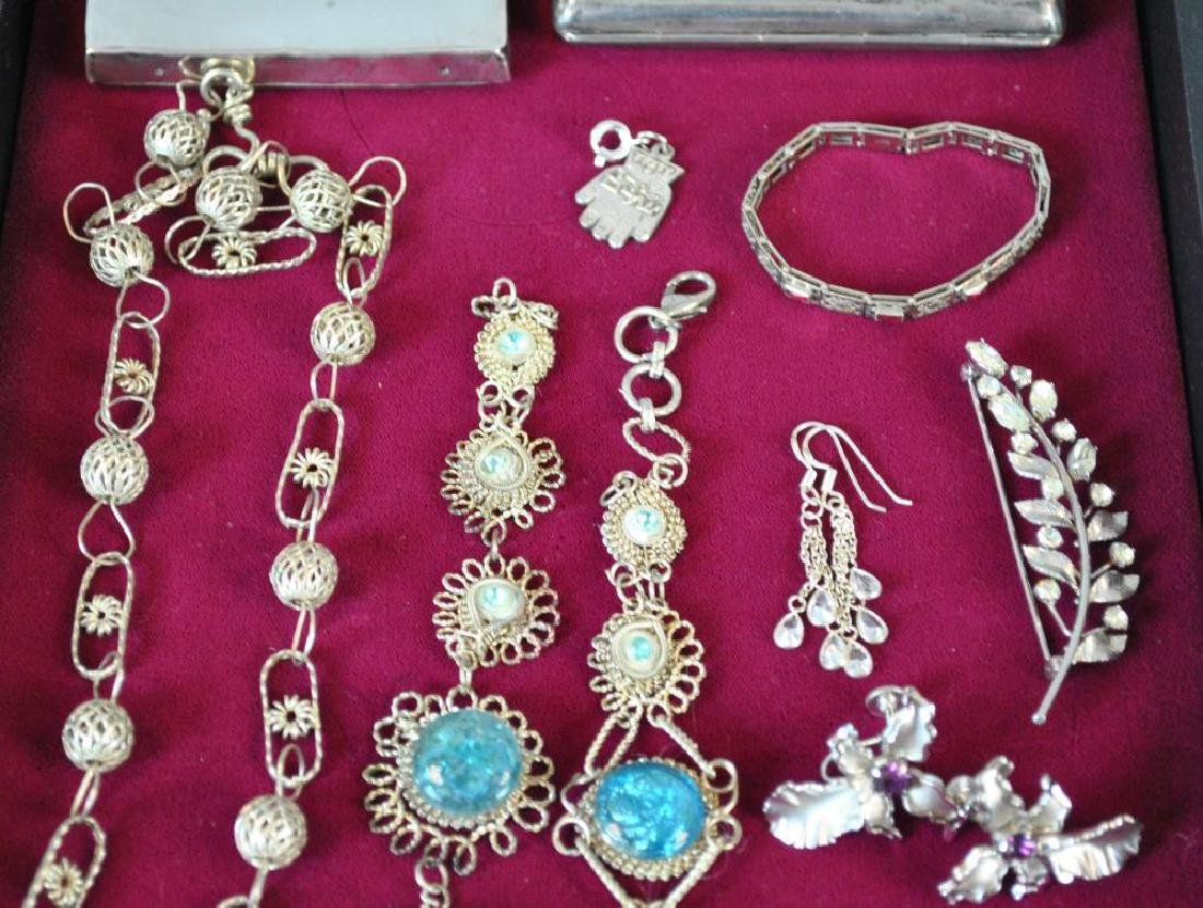 (2) SILVER ARTICLES AND (10) SILVERTONE JEWELRIES - 3