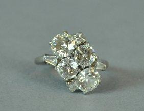 PLATINUM & DIAMOND RING, 3.81CTW