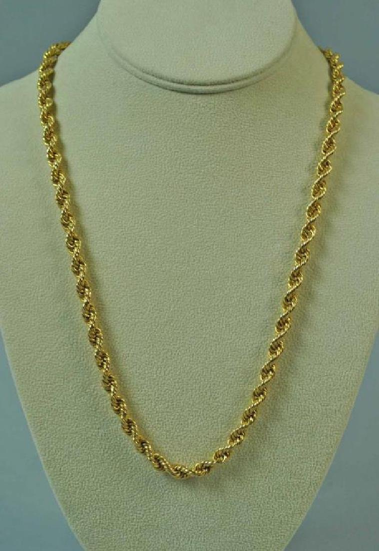 HEAVY GOLD ROPE LINK NECKLACE