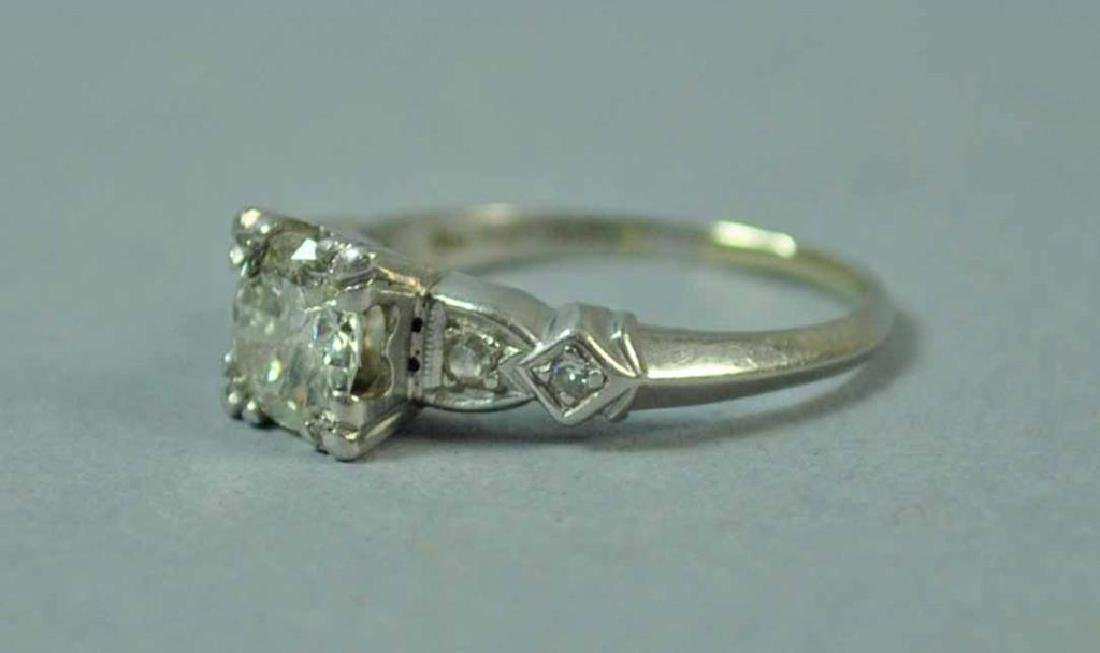 PLATINUM & DIAMOND ENGAGEMENT RING, 0.75CT