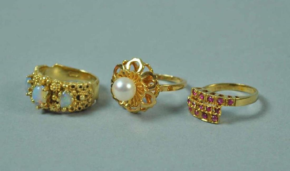 (3) GOLD RINGS