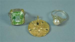 3 PIECE GOLD JEWELRY GROUP