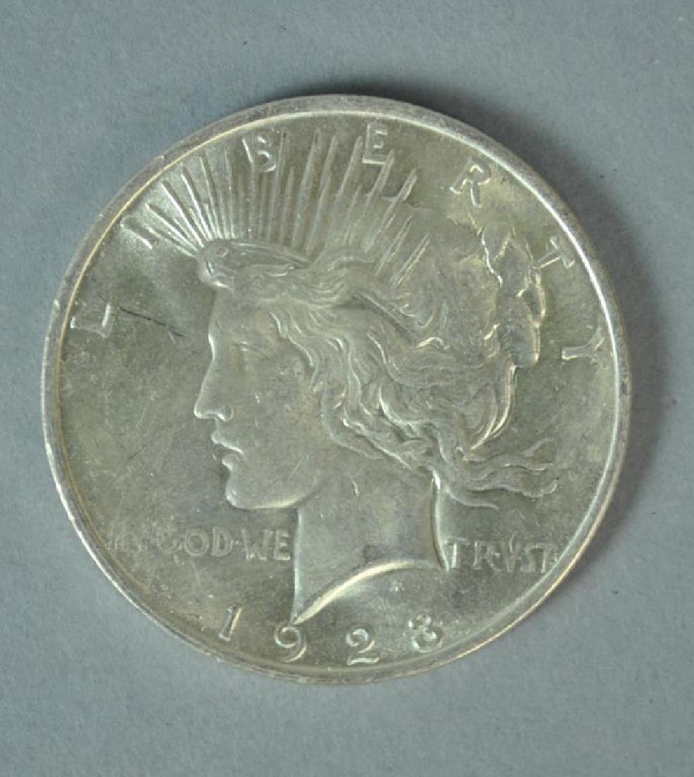 (9) PEACE US SILVER DOLLAR COINS