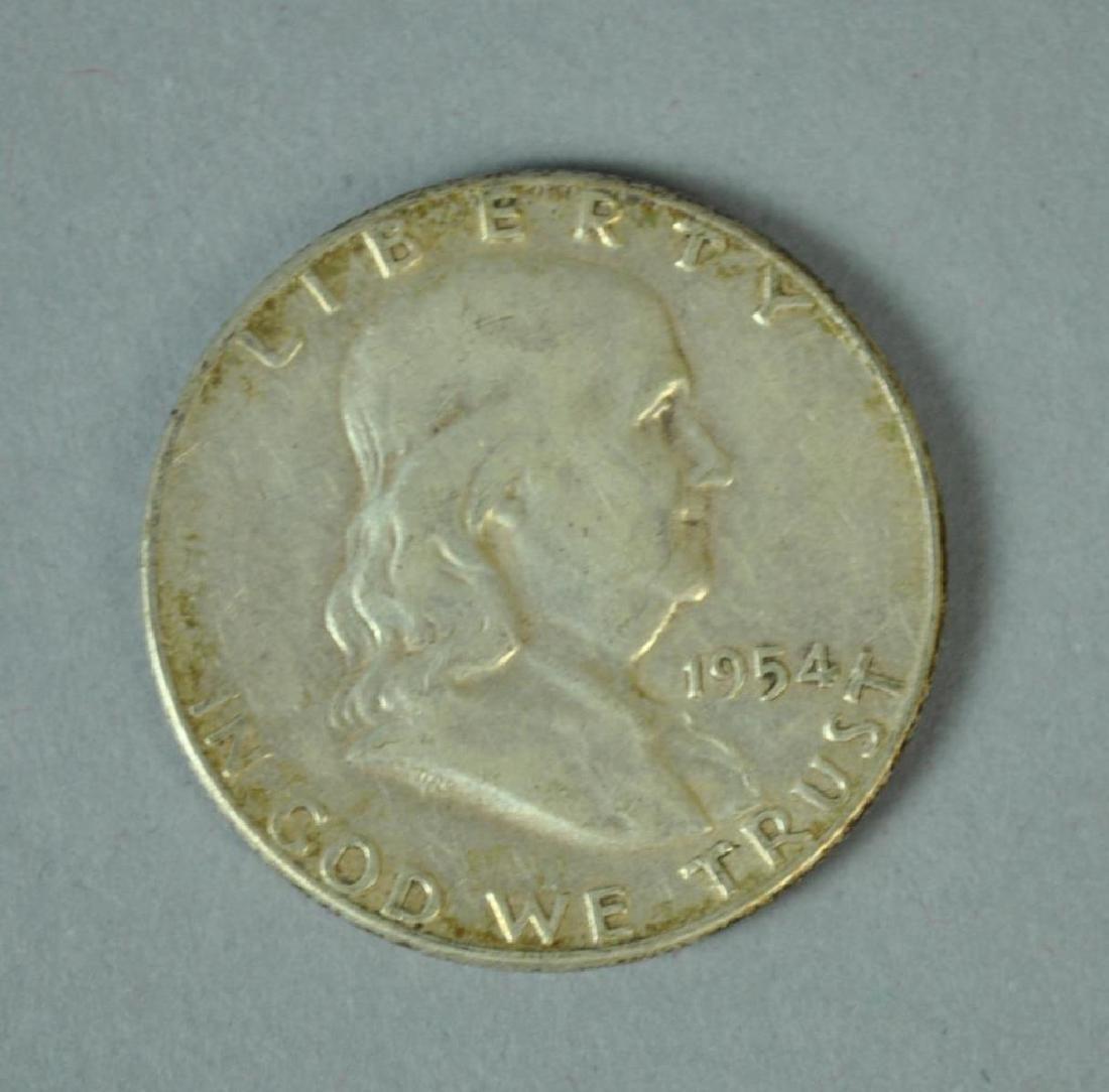 (20) FRANKLIN SILVER HALF-DOLLAR COINS