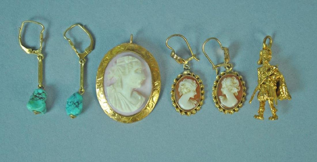 (4) PIECE GOLD JEWELRY GROUP