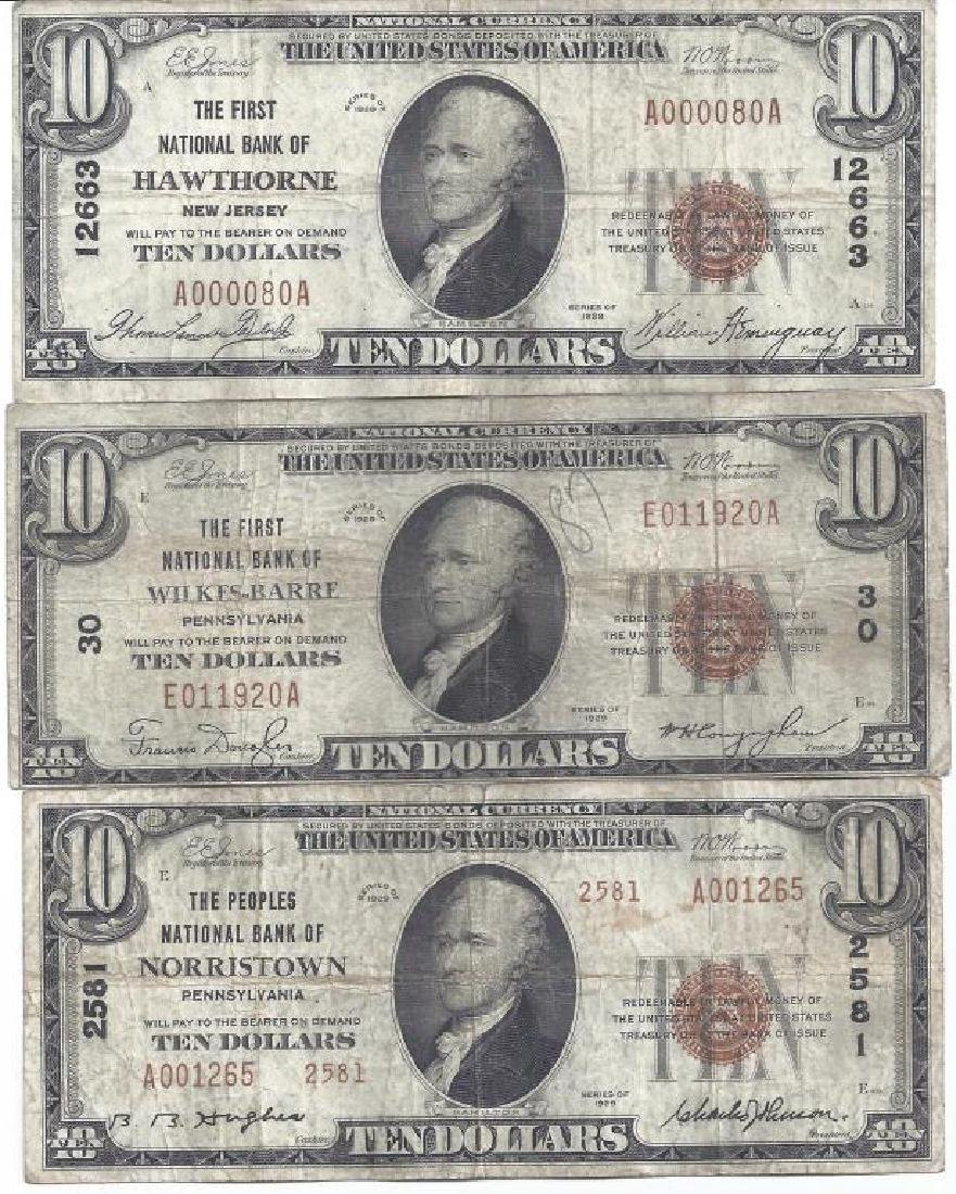 (3) SERIES 1929 NATIONAL CURRENCY NOTES