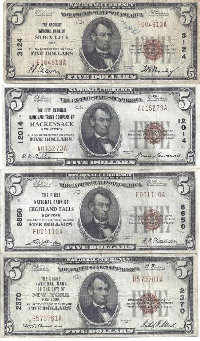 (4) SERIES 1929 NATIONAL CURRENCY NOTES