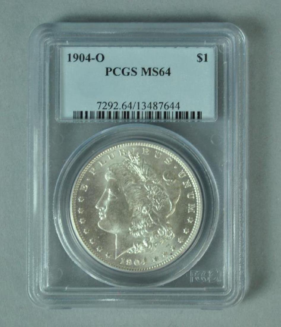 1904-O MORGAN SILVER DOLLAR – PCGS MS64