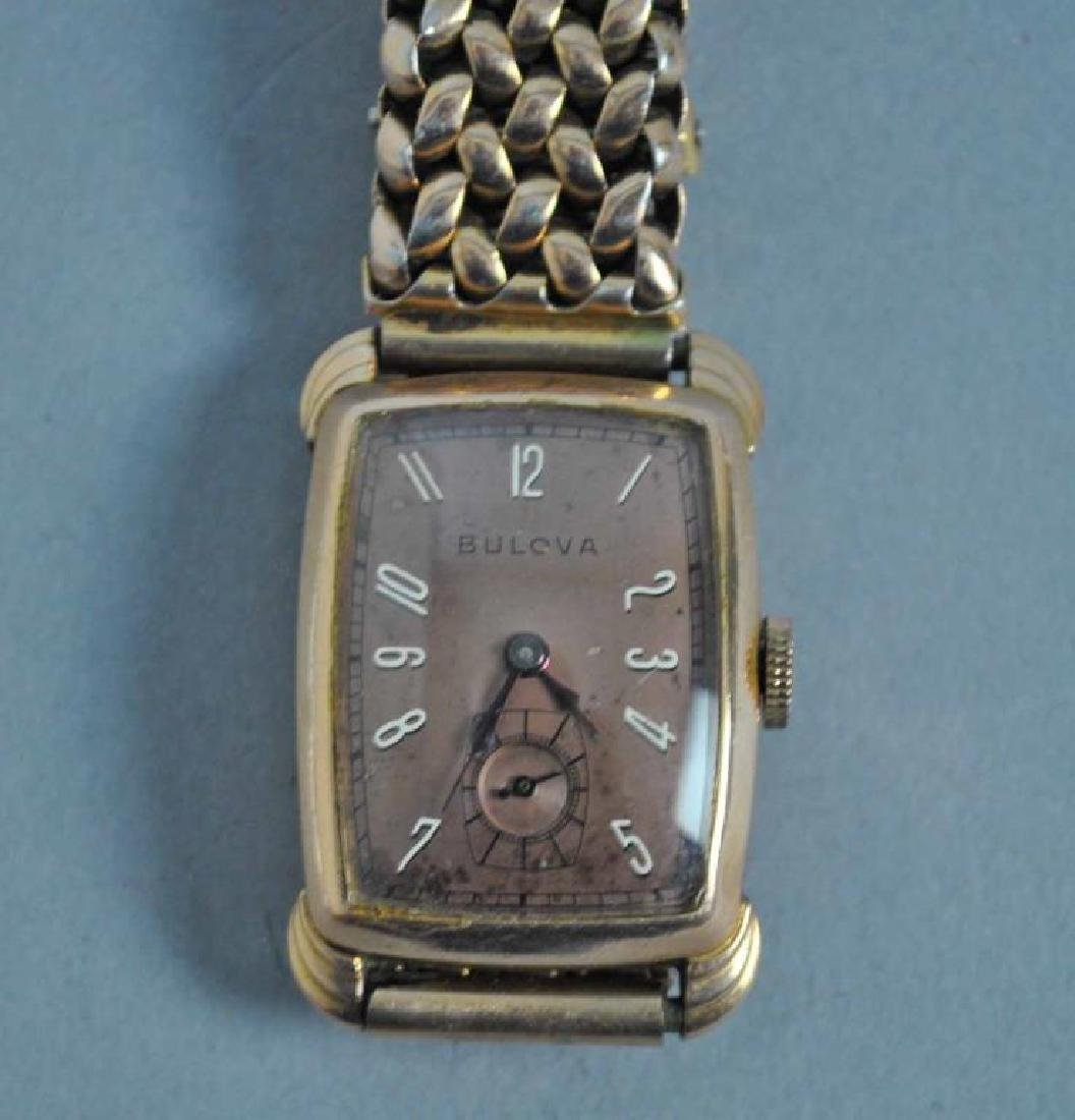 GENTS BULOVA GOLD CASE WATCH