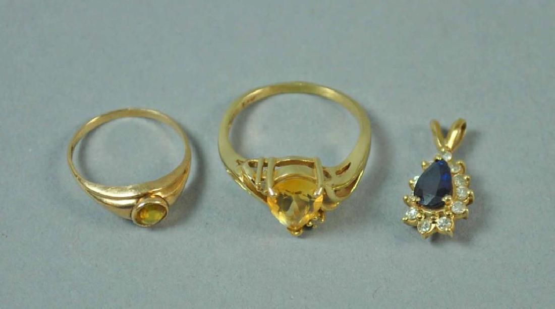 (3) PIECE GOLD JEWELRY GROUP