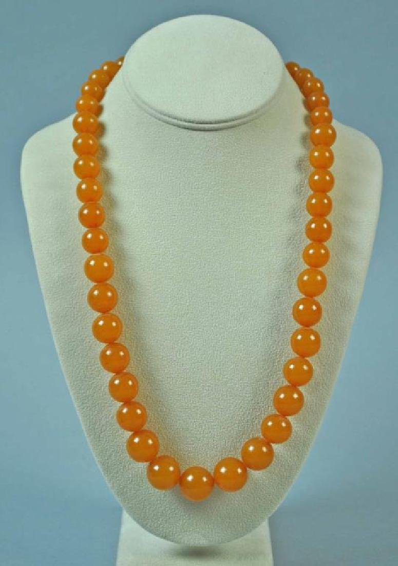 AMBER BEADED NECKLACE