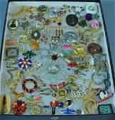 70 COSTUME JEWELRY PINS