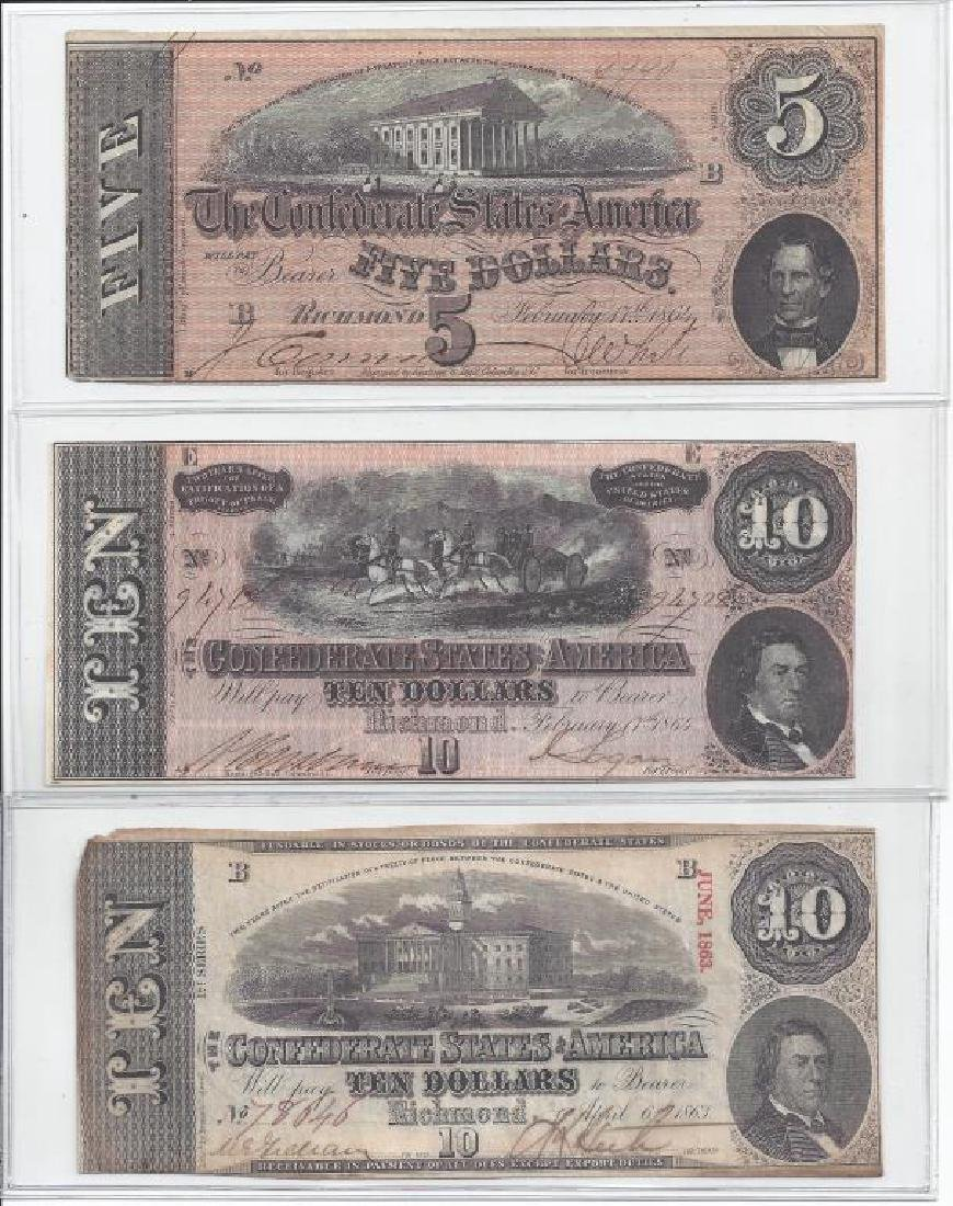(3) CONFEDERATE STATES OF AMERICAN NOTES