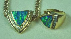 OPAL & DIAMOND DEMI PARURE