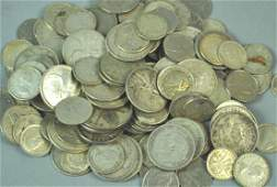 LARGE GROUP OF INTERNATIONAL SILVER COINS