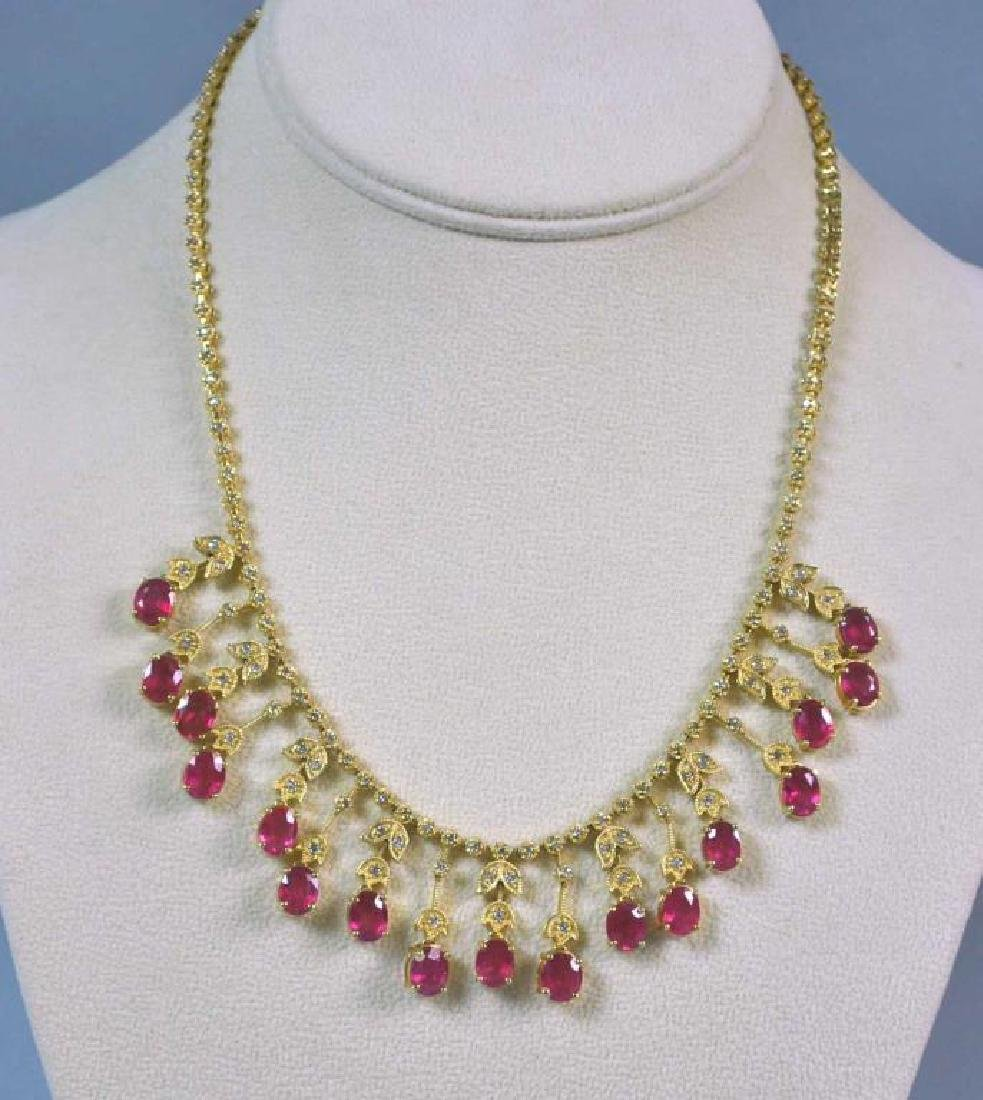 RUBY & DIAMOND NECKLACE - 2