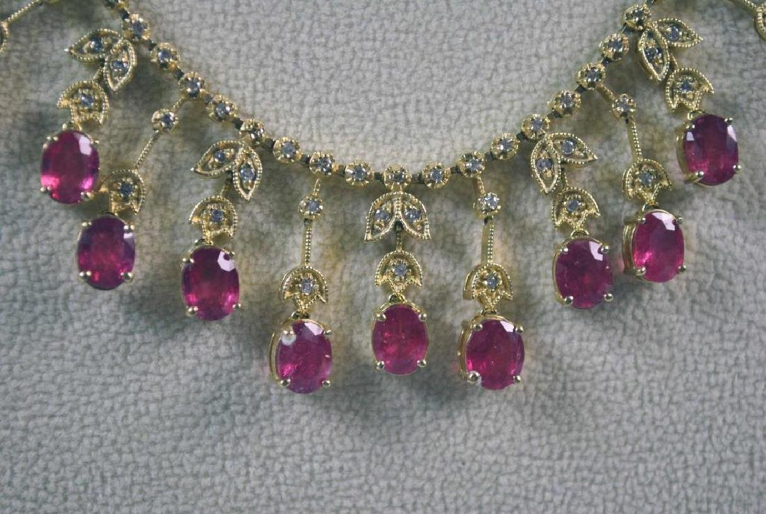 RUBY & DIAMOND NECKLACE - 3