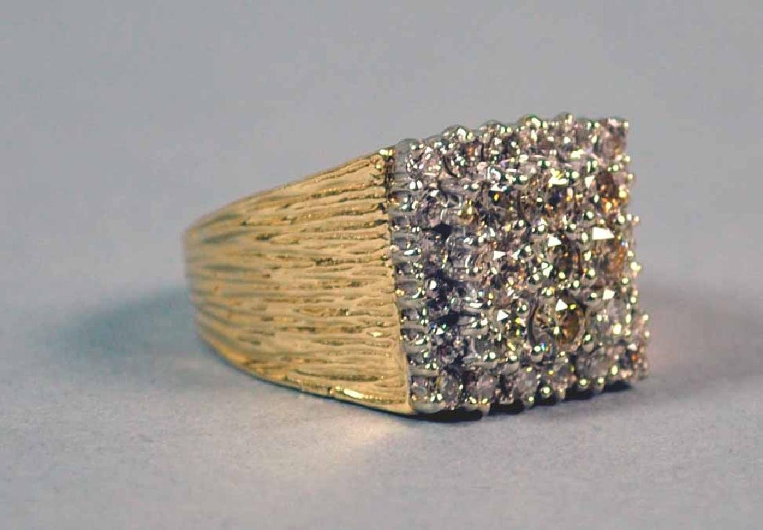 GENTS DIAMOND RING, 1.95CTW
