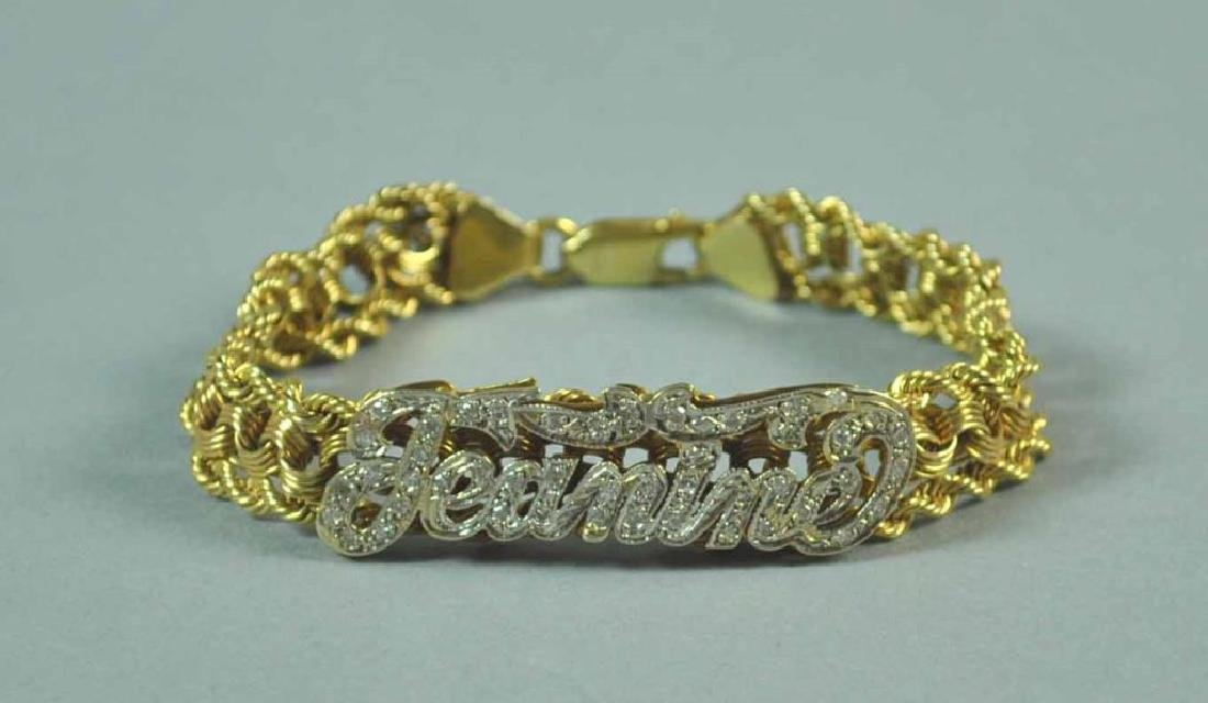 GOLD & DIAMOND FANCY LINK BRACELET