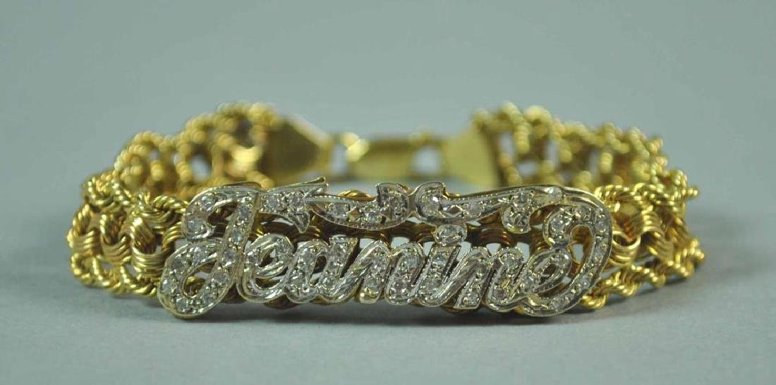 GOLD & DIAMOND FANCY LINK BRACELET - 2