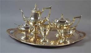 (5) PIECE GORHAM STERLING COFFEE & TEA SERVICE