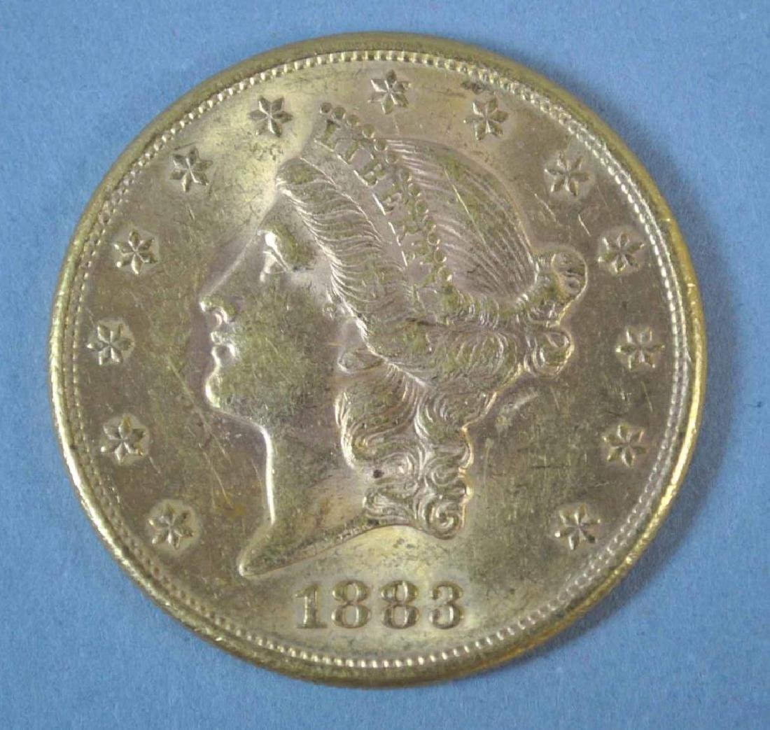 1883-S US DOUBLE EAGLE $20 GOLD COIN