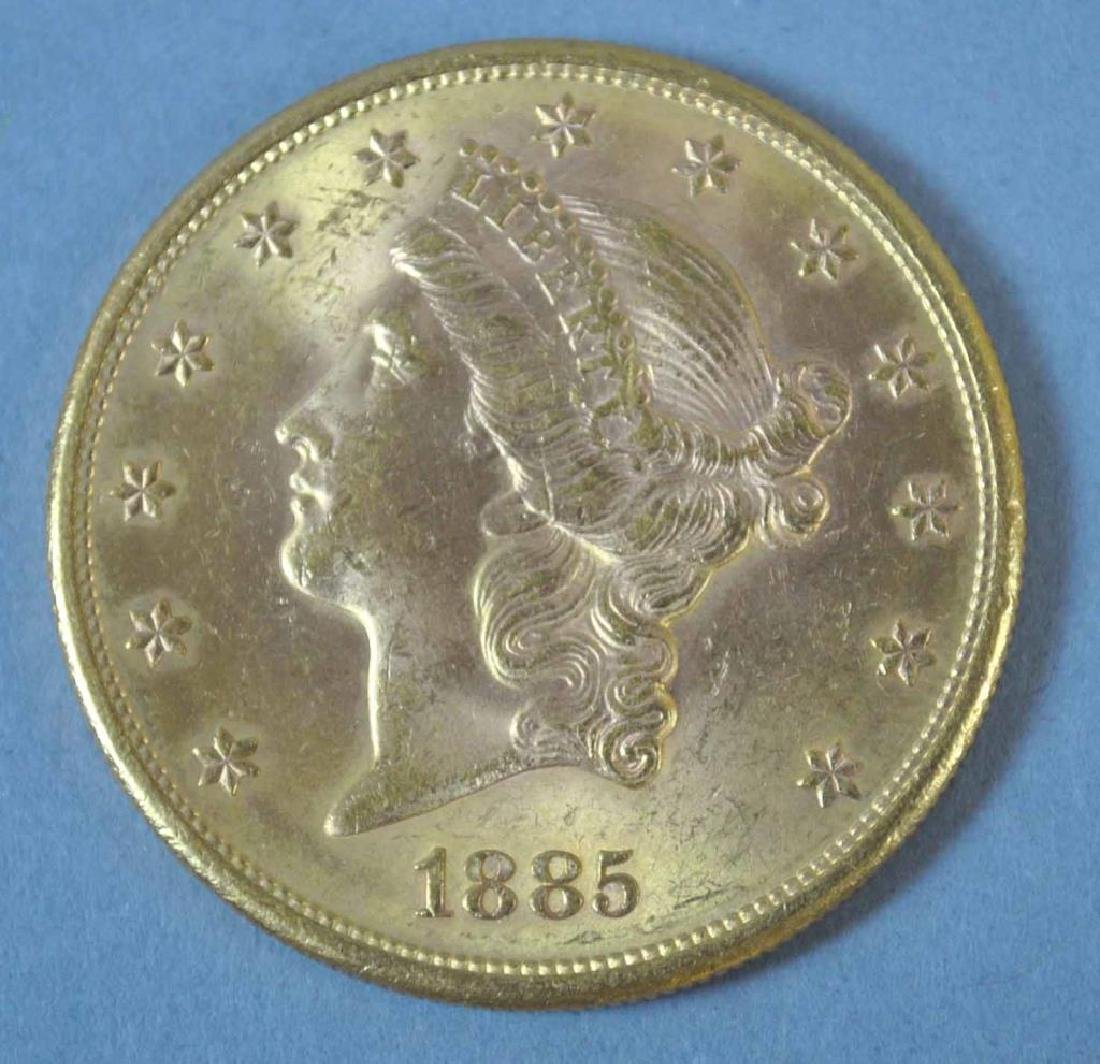 1885-S US DOUBLE EAGLE $20 GOLD COIN