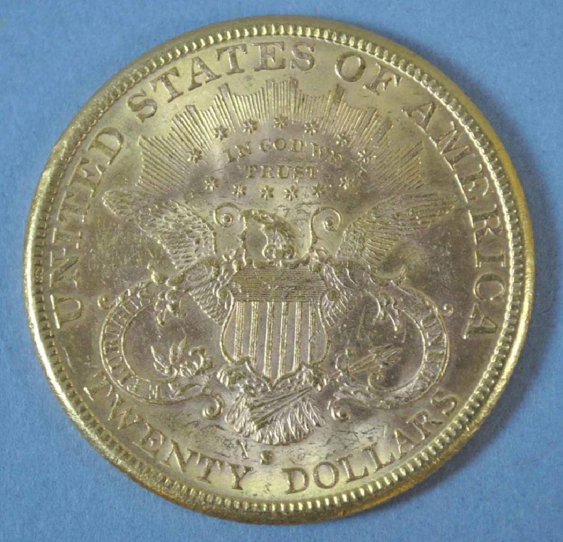 1885-S US DOUBLE EAGLE $20 GOLD COIN - 2