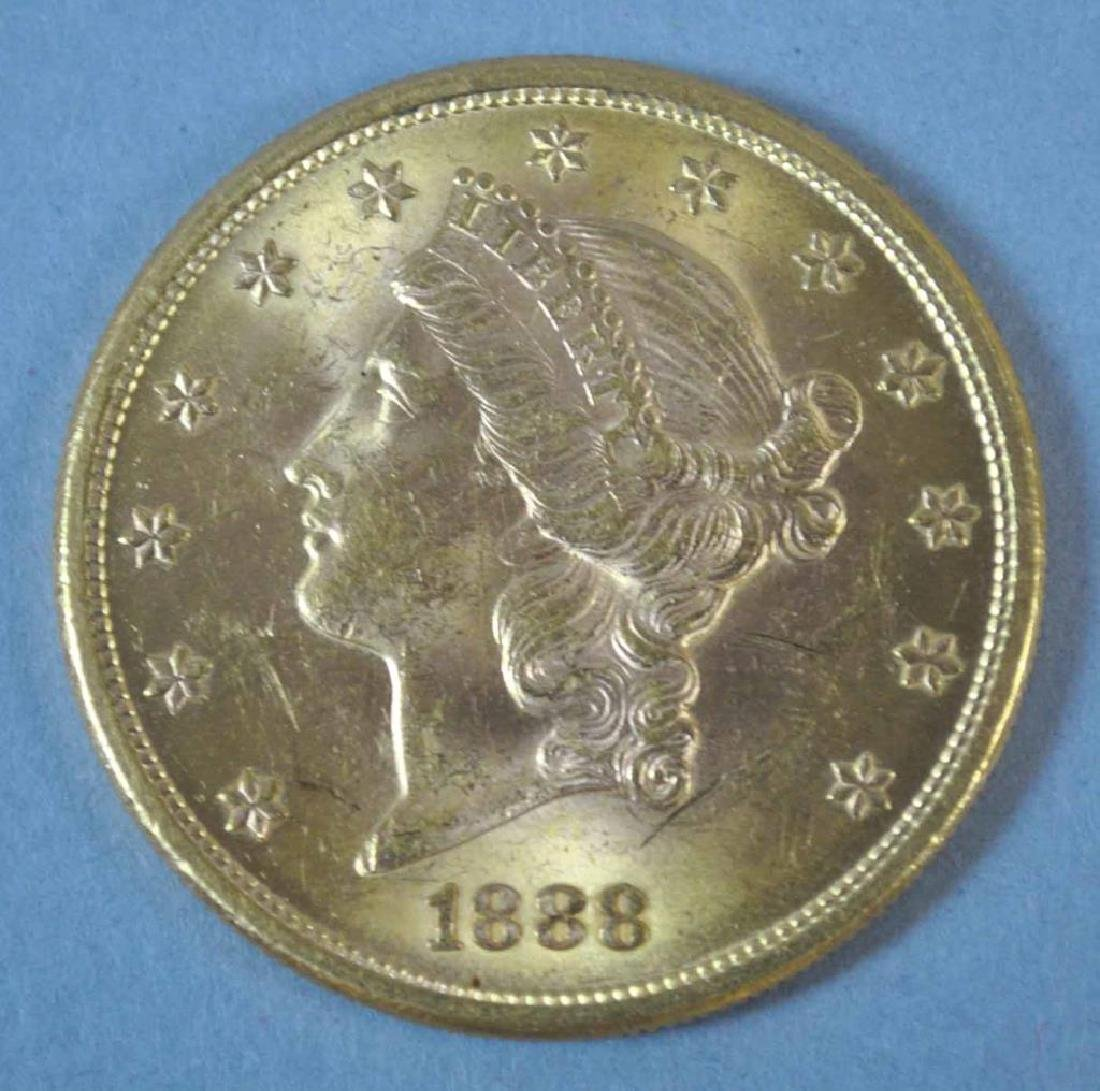 1888-S US DOUBLE EAGLE $20 GOLD COIN