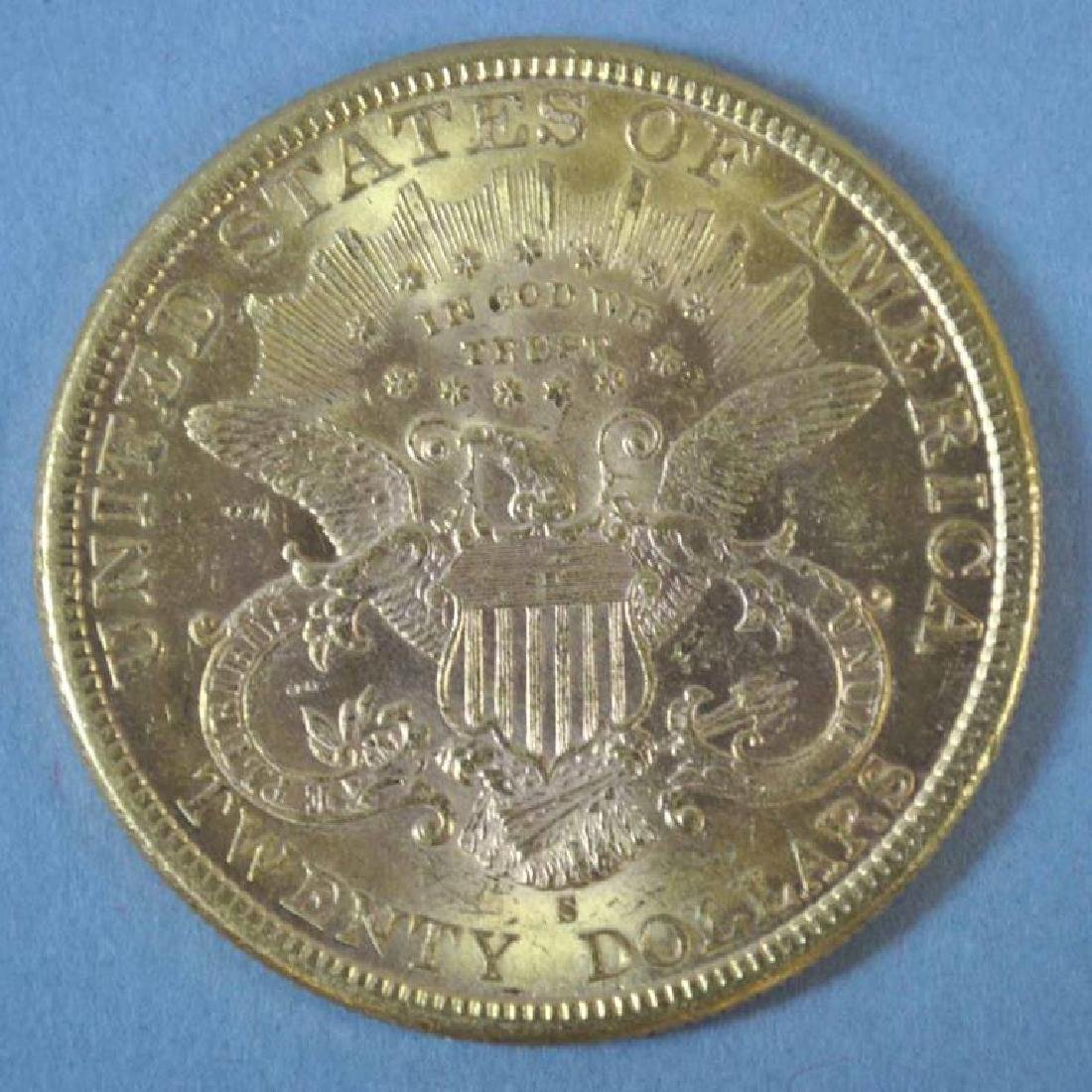 1888-S US DOUBLE EAGLE $20 GOLD COIN - 2