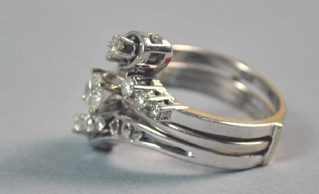 DIAMOND ENGAGEMENT RING WEDDING SET, 0.80CTW - 2