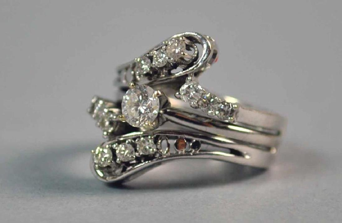 DIAMOND ENGAGEMENT RING WEDDING SET, 0.80CTW - 4