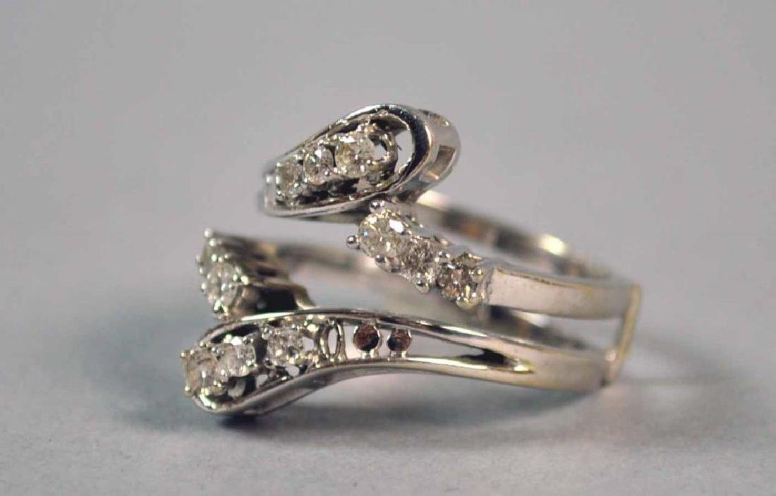 DIAMOND ENGAGEMENT RING WEDDING SET, 0.80CTW - 5