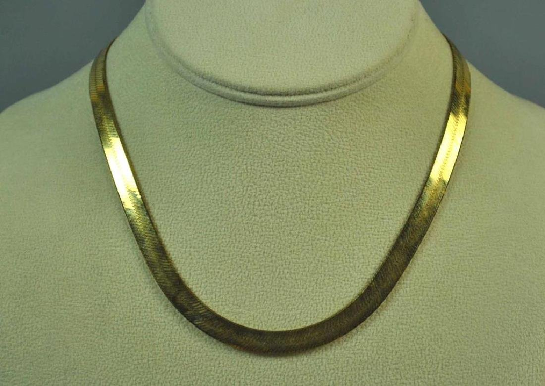 14K ITALIAN HERRINGBONE NECKLACE