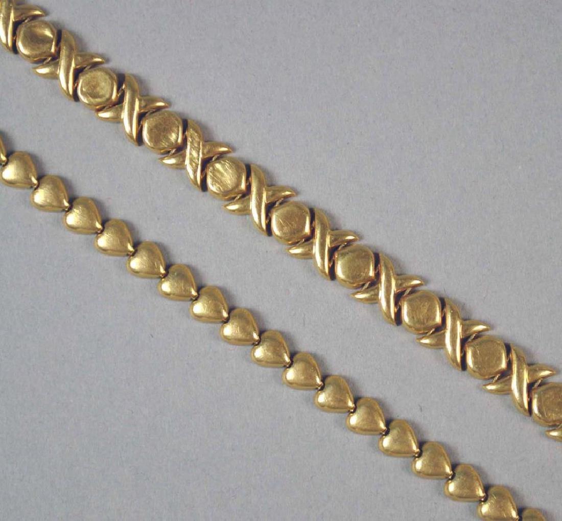 (2) GOLD BRACELETS