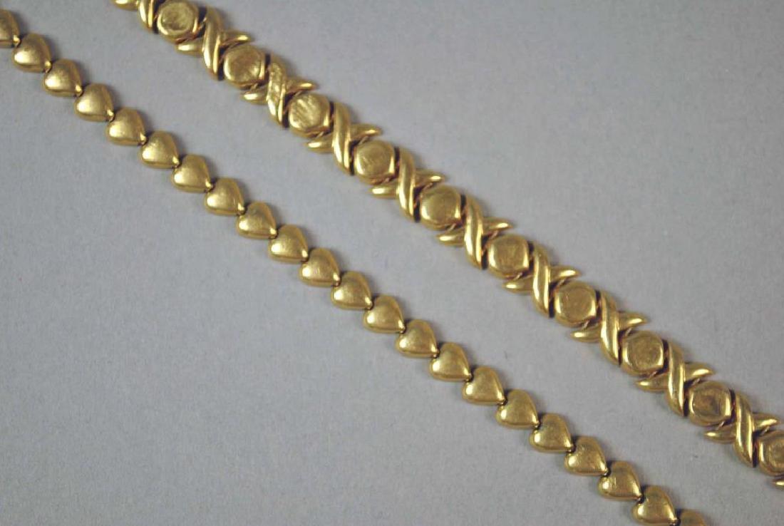 (2) GOLD BRACELETS - 2