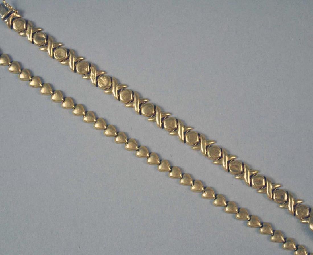 (2) GOLD BRACELETS - 3