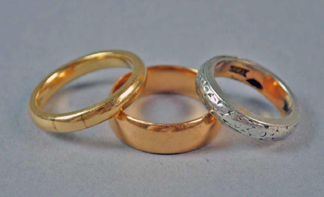 (3) GOLD WEDDING BANDS