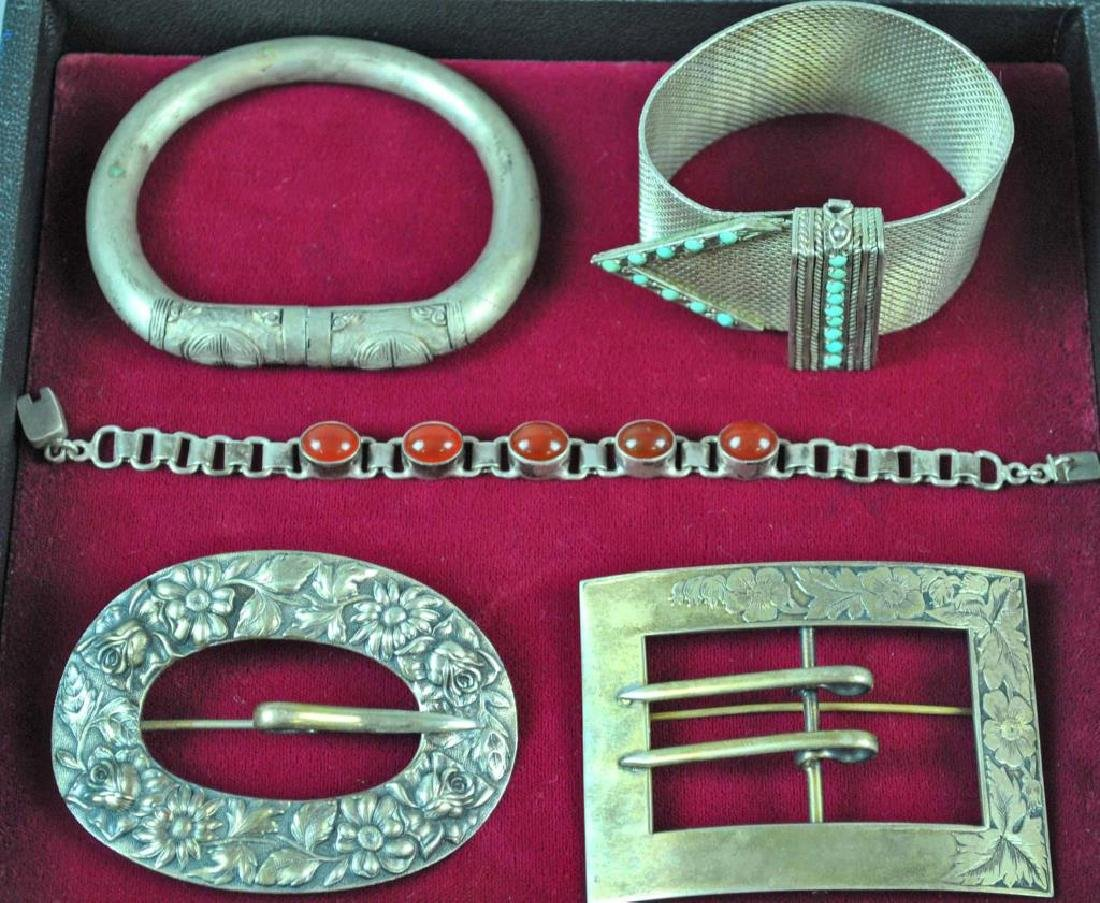 (5) PIECE SILVER JEWELRY GROUP