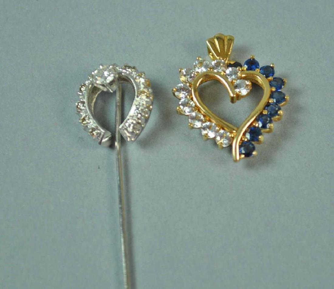 (2) 14K JEWELRIES-STICKPIN & PENDANT