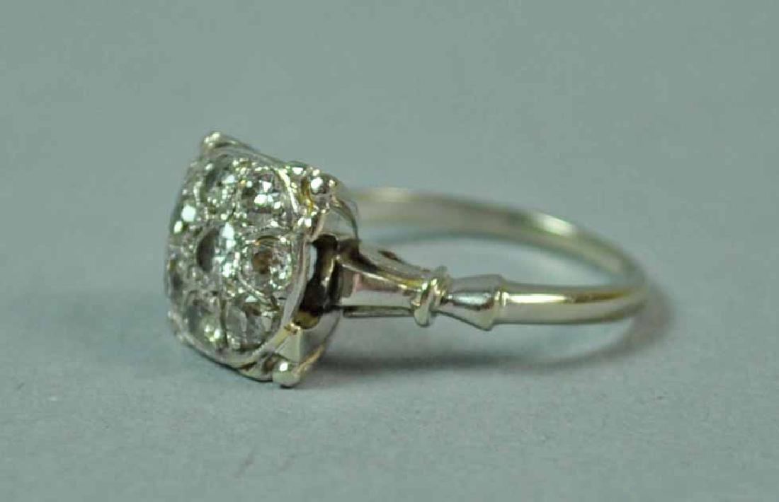 GOLD & DIAMOND CLUSTER RING - 2