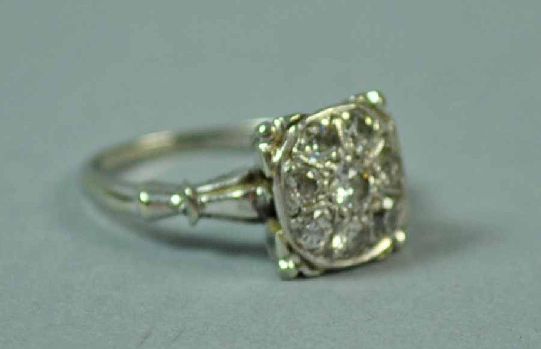 GOLD & DIAMOND CLUSTER RING - 3