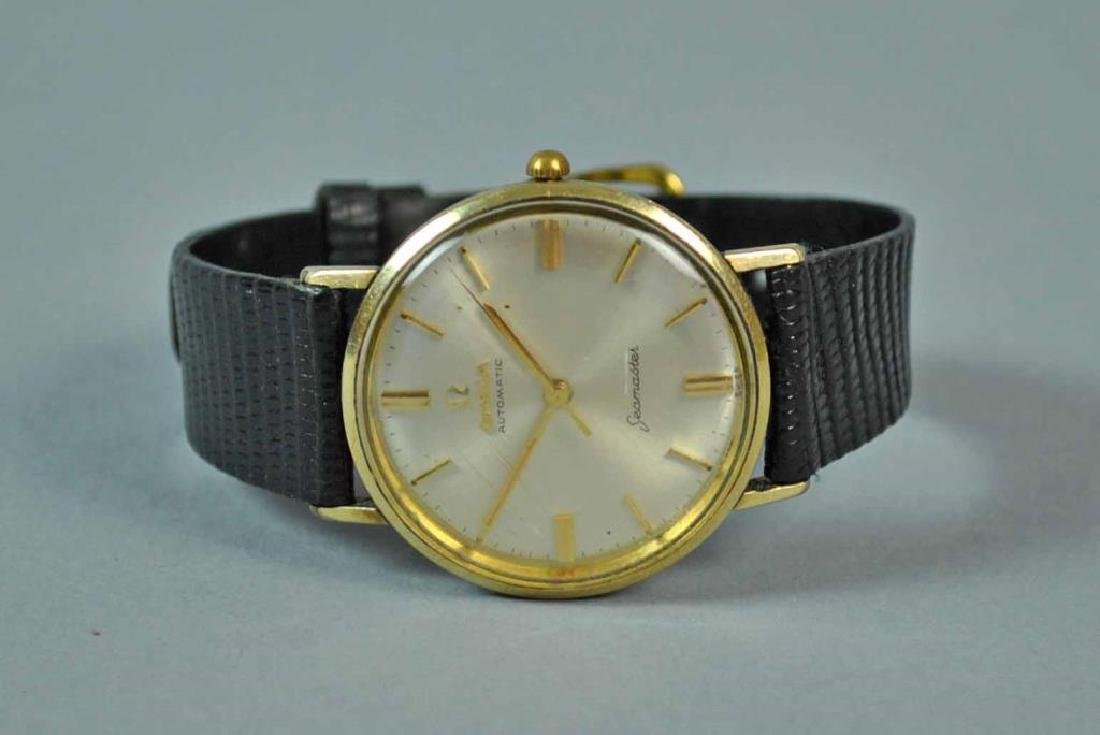 GENTS OMEGA AUTOMATIC GOLDTONE SEAMASTER WATCH