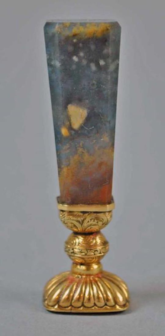 18K & AGATE DESK SEAL