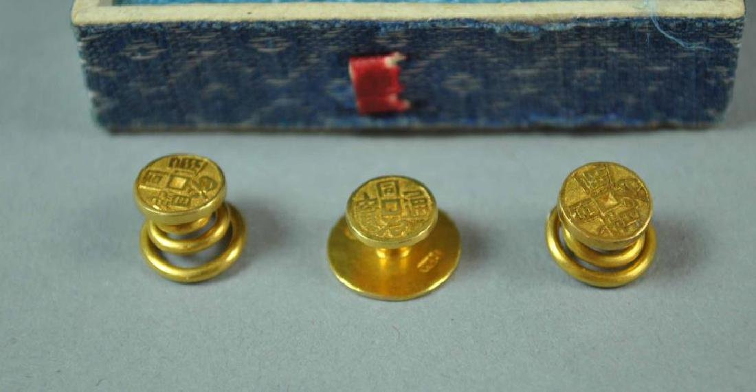 (7) CUFFLINKS AND A SHIRT STUD, MOST GOLD & 925 - 6