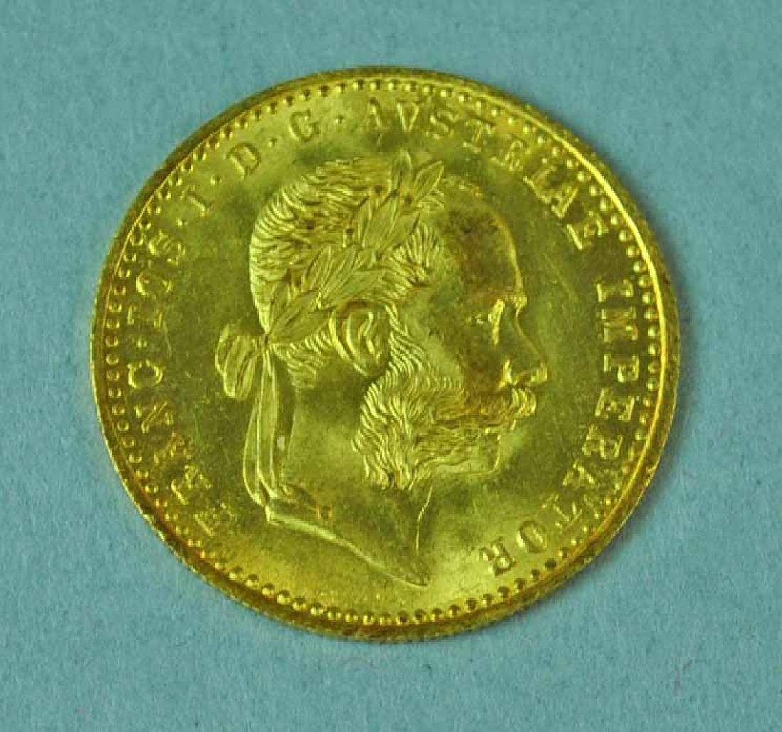 1915 AUSTRIAN 1 DUCAT GOLD COIN