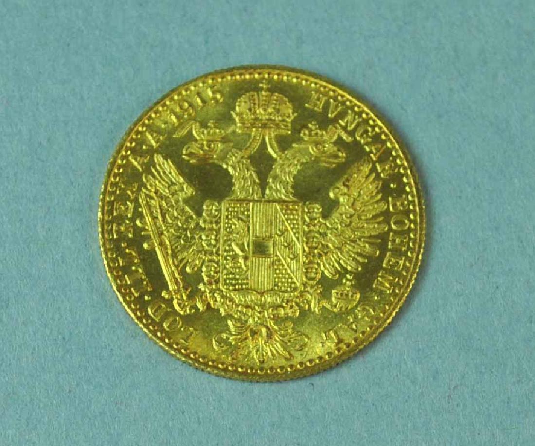 1915 AUSTRIAN 1 DUCAT GOLD COIN - 2