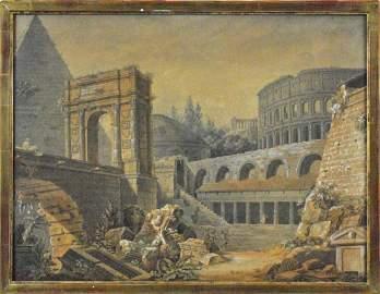 (PAIR) LOUIS JEAN DESPREZ (French, 1743-1804)