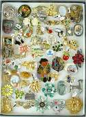 (50+) SIGNED COSTUME JEWELRY PINS