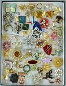 (60+) COSTUME JEWELRY PINS